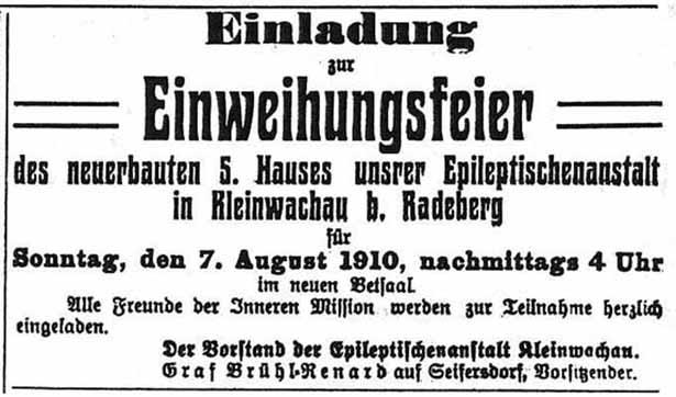 1910 Anzeige Radeberger Zeitung