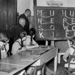 Schulunterricht 1950
